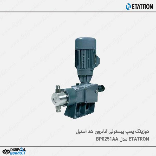 دوزینگ پمپ پیستونی Etatron با هد استیل ﻣﺪل BP0251AA