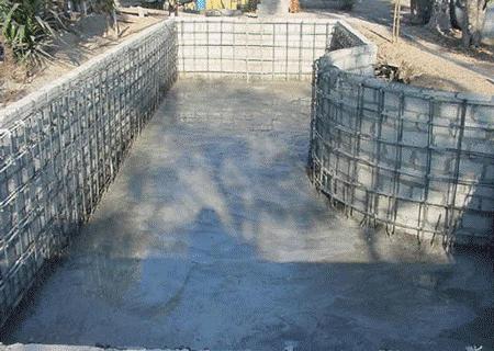 مراحل ساخت استخر با بلوک سیمانی
